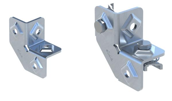 strut-channel frame angle connectors