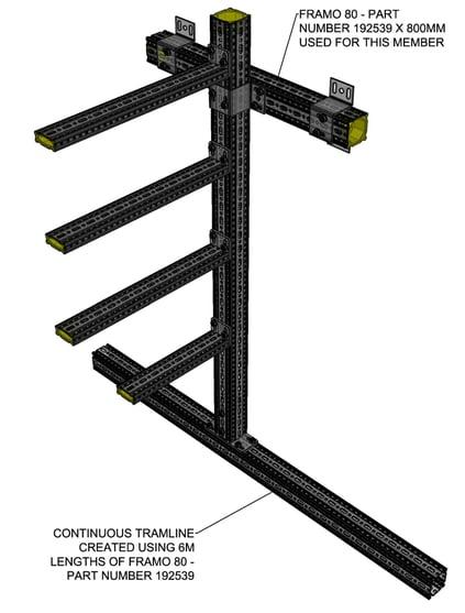 siFramo modular steel continuous tramline