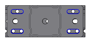 Steel beam section offset hole position