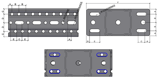 holes and the slotted beam siframo sections