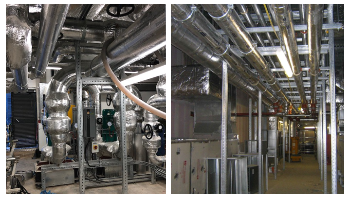 siFramo Goal Post Frames in Plant Rooms and Multi-Service Corridors