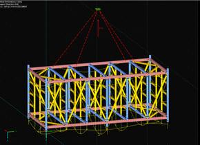 steel module lifting