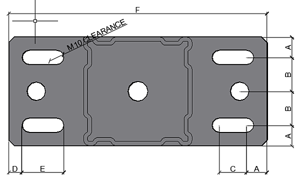 Slot Dimensions of Standdard Components STA F80