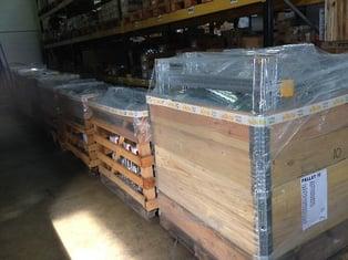 Prefabricated steel frames
