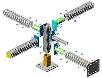 modular steel detailed components