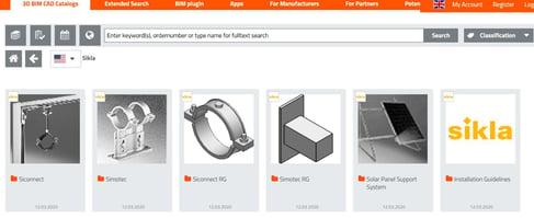 Sikla 3D BIM CAD Free Catalog