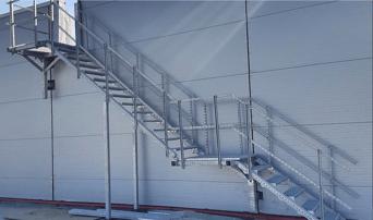 pre fabricated modular steel stairs