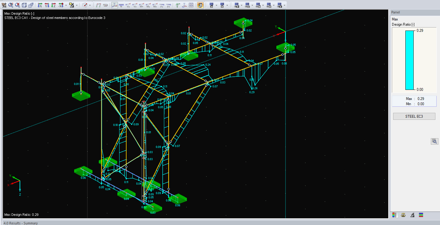 3D Structural Frame Analysis