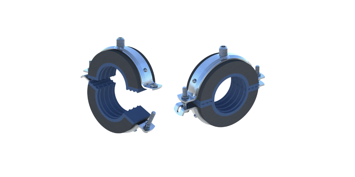 Chilled water pipe clamps